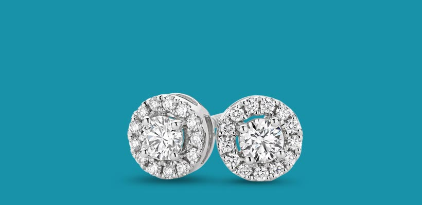 Round Halo Earrings At Kennedys Showcase Jewellers